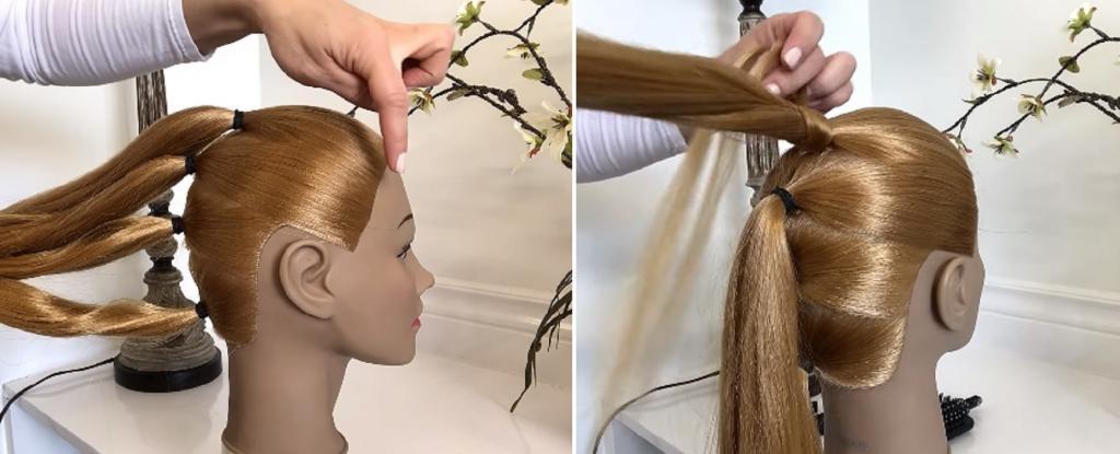 Пробуем заплести шикарную косу на четыре пряди с 3D-эффектом. Пошаговая фотоинструкция