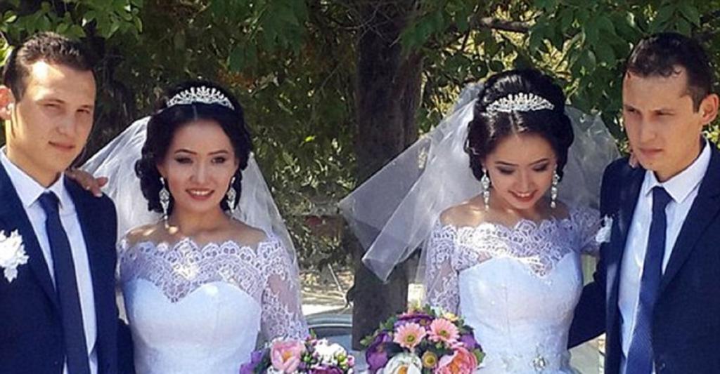 Главное не перепутать: казахские братья-близнецы женились на близняшках