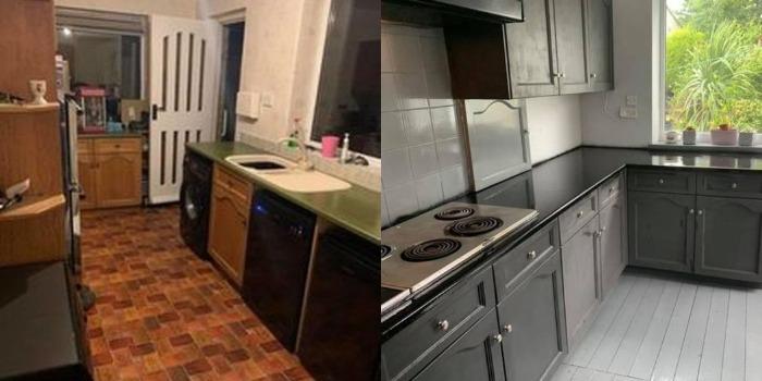 Соседка решила сэкономить и обновила старую коричневую кухню сама. Теперь в ней не стыдно принимать гостей