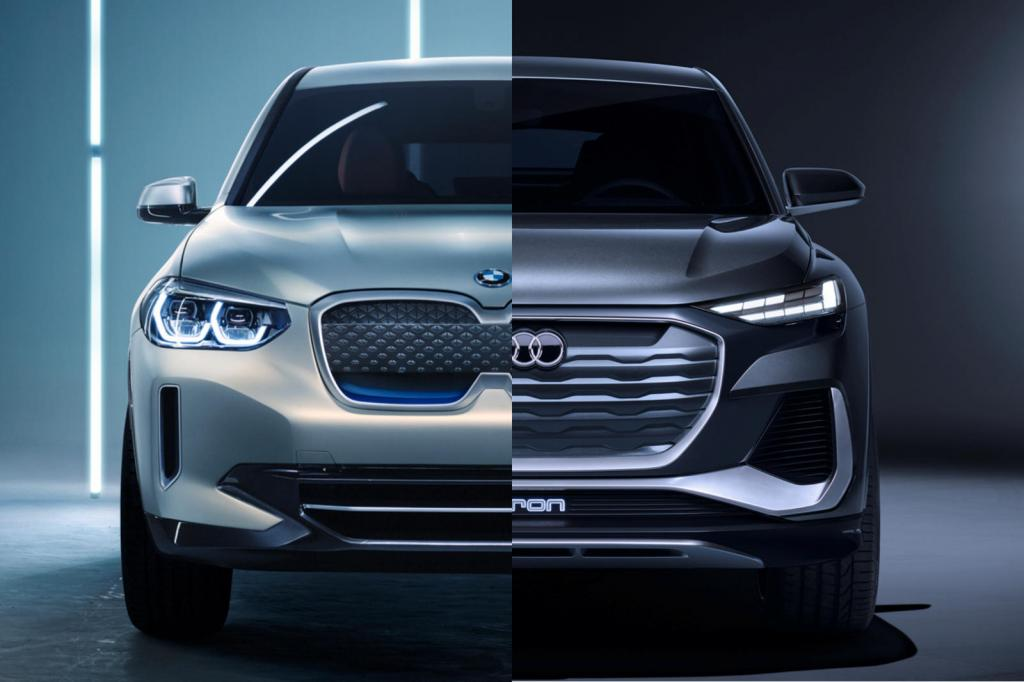 Сравнение стилей: BMW Concept iX3 VS концепт Audi Q4 Sportback e-tron