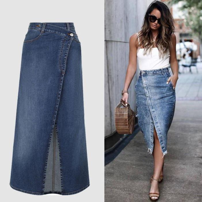 30, 40, 50 плюс: подборка модных джинсовых юбок лета 2020 для 3 возрастных групп