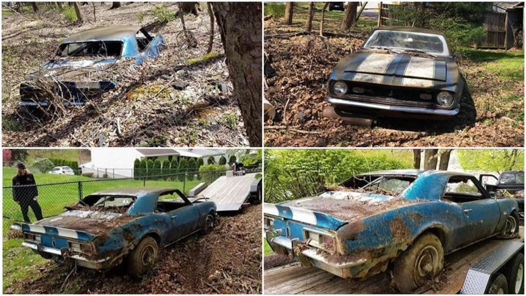 Забытый в лесу: очень редкий Chevrolet Camaro 1968 года получает шанс на восстановление (фото)