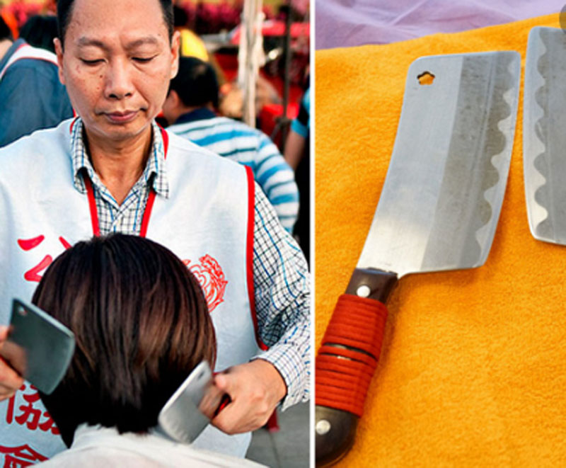 Хочешь избавиться от стресса, ложись под нож: старинный китайский массаж тесаками переживает бум на Тайване