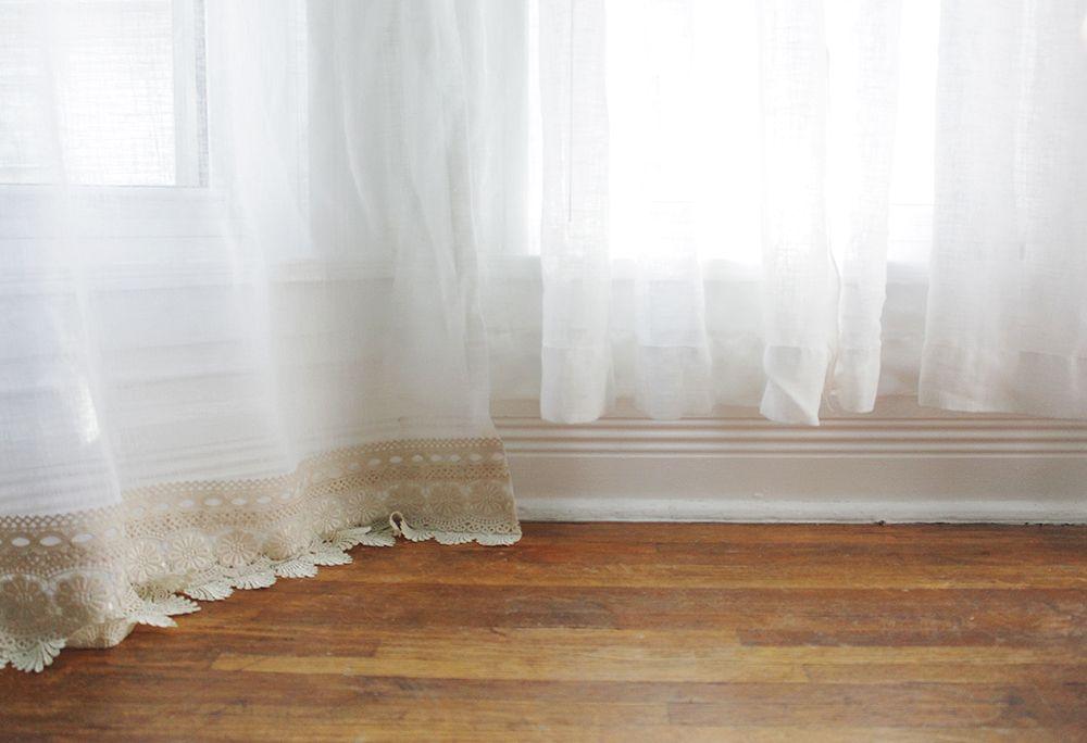Знакомая купила красивые шторы, а они оказались слишком короткими: она сама сделала их длиннее очень простым способом, без шитья