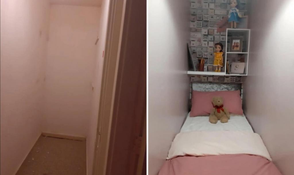 Женщина мастерски переделала шкаф в комнату для падчерицы: теперь люди говорят, что она прекрасная мачеха