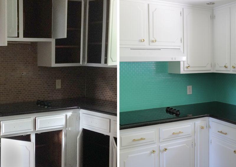 Во время ремонта самостоятельно перекрасили фартук на кухне: сэкономили хорошую сумму, и кухня сразу преобразилась