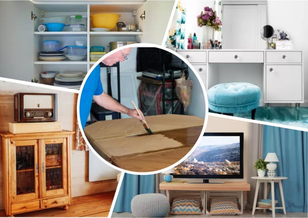 Зачем тратить деньги на новую мебель, если из старой можно сделать стильный обеденный стол и еще много интересных вещей