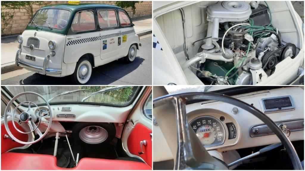 Туринское такси: маленький Fiat 600D 1967 года способен доставить с комфортом четырех взрослых людей (видео)
