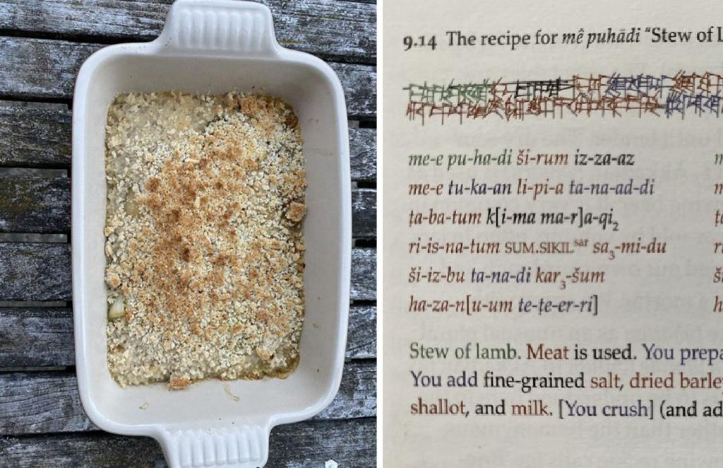 Профессор решил приготовить еду по рецептам 4000 летней давности и поделился фото