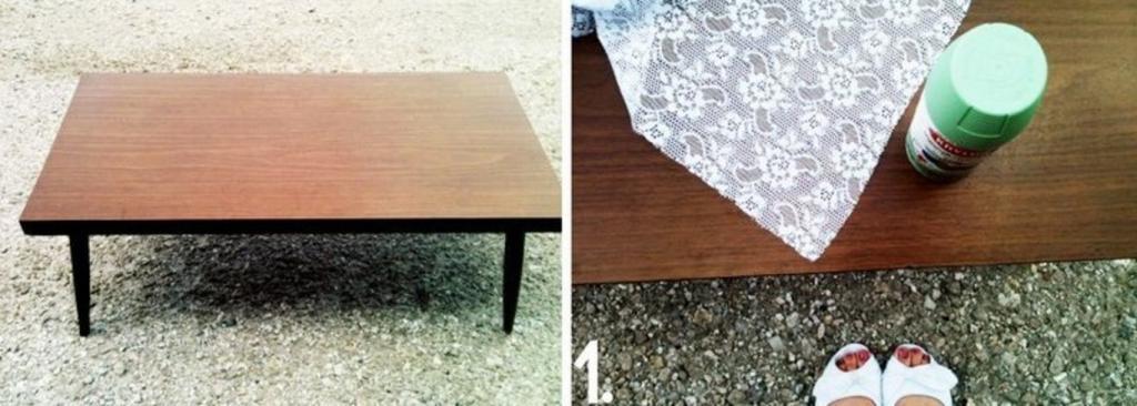 Сделала старый столик красивым и стильным. Делюсь простым способом