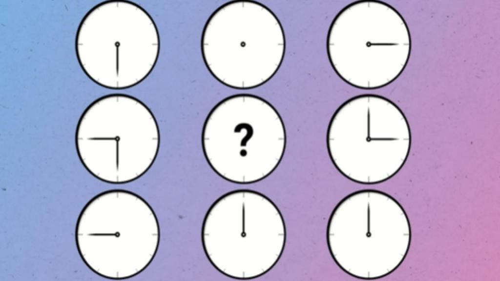 Минута наблюдательности: как должны стоять стрелки на часах посередине