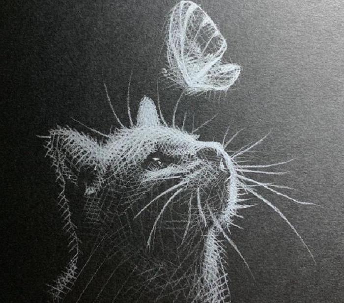 Малазийская художница сделала нежную серию работ на темной бумаге, показывая отношения света и тени