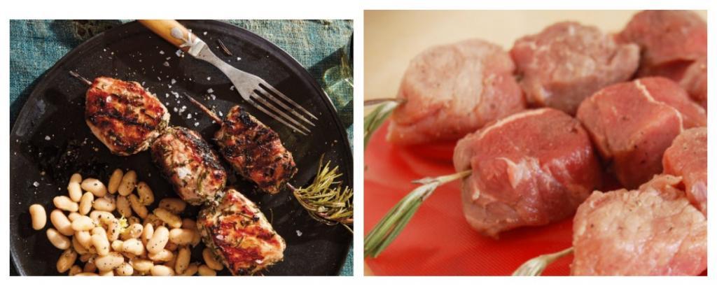 Сделала свиные шашлыки по порчетски с белой фасолью: рецепт