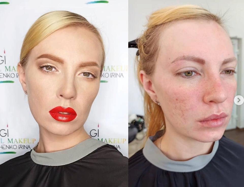 Девушка превратилась в голливудскую красотку с манящими губами (фото до и после макияжа)