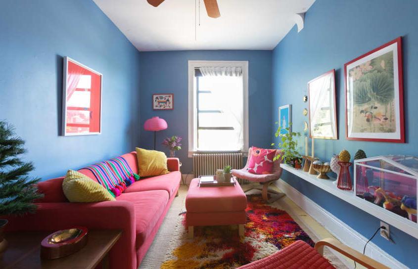 Цвета много не бывает: яркая квартира художницы из Нью-Йорка, каждая комната которой окрашена в разный цвет
