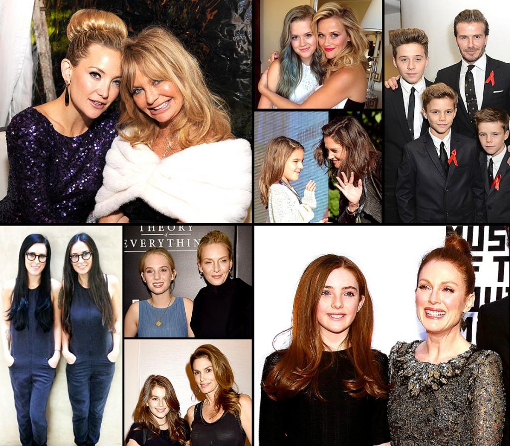 Риз Уизерспун, Джулианна Мур, Синди Кроуфорд, Мадонна, Мерил Стрип и другие звезды, глядя на детей которых не усомнишься – это их младшие двойники