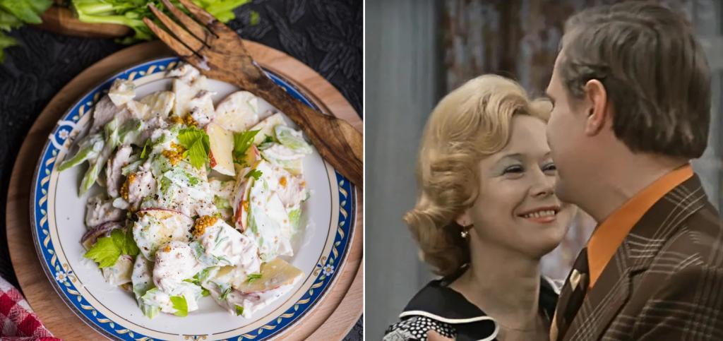 Гусик от мусика и салат с тертым яблочком: рецепты блюд, которые на экране ели герои любимых советских фильмов