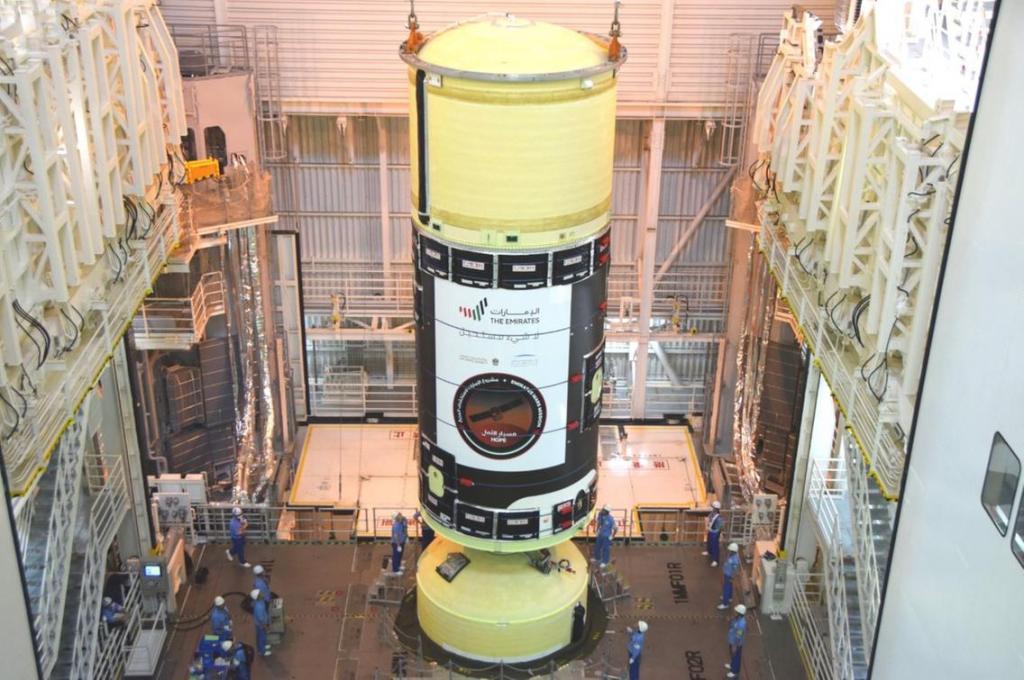 Первые фотографии марсианского зонда Mars Hope в японском космическом центре Танегасима