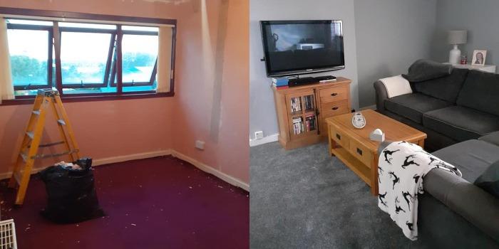 После развода женщине пришлось переехать в маленькую грязную квартиру. Она сделала из нее конфетку