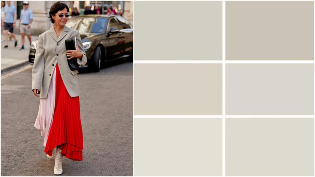 В моде новый цвет Greige   это комбинация серого и бежевого. И он идет буквально всем