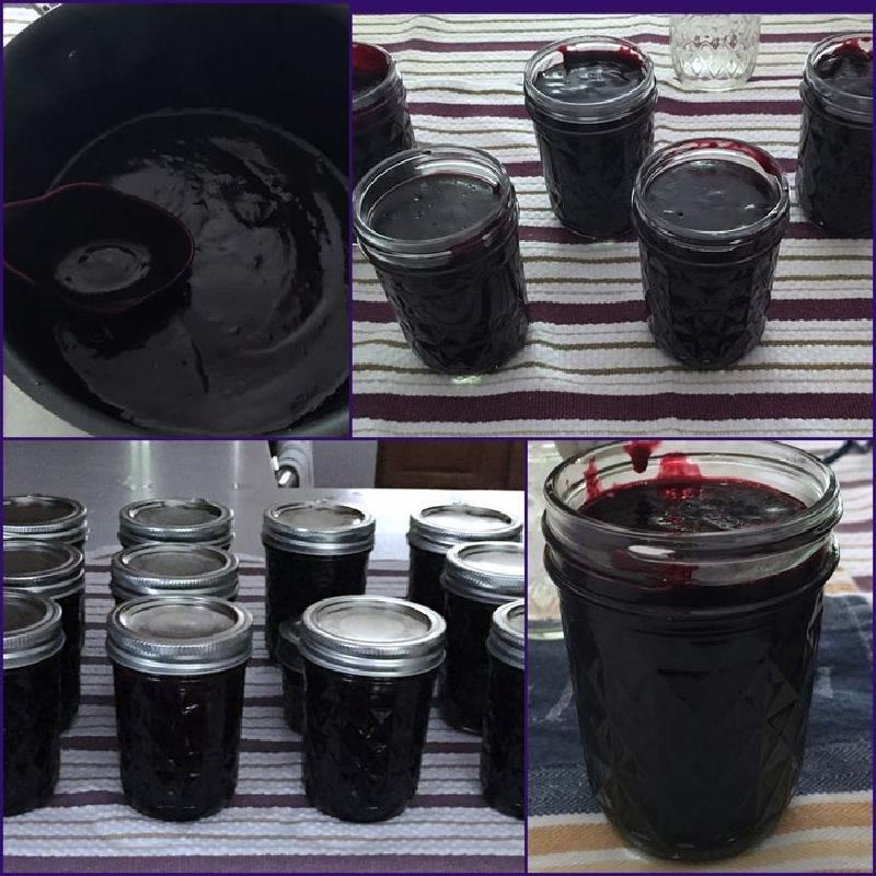Подруга поделилась секретом густого темного джема из ежевики с очень насыщенным цветом: она готовит его без косточек и добавляет пектин