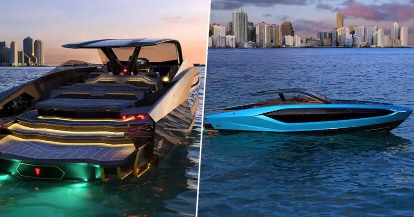 Компания Lamborghini сделала яхту стоимостью 3,4 млн $. Неудивительно, что она выглядит как роскошный суперкар