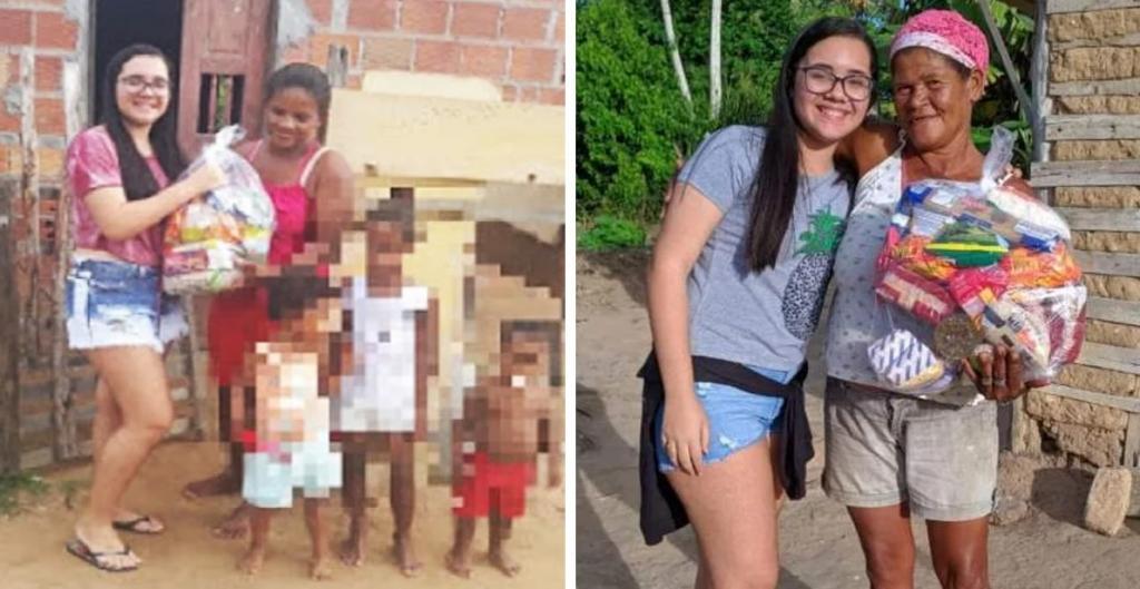 Заслуживает уважения: девушка из Бразилии отказалась от вечеринки в честь своего 15-летия, а деньги потратила на подарки нуждающимся семьям