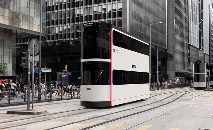 В Гонконге создали проект двухэтажного беспилотного трамвая, ориентированный на социальное дистанцирование (фото)