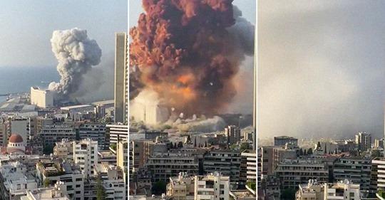 Мощный взрыв аммиачной селитры в Бейруте: причины, последствия, фото и видео из соцсетей