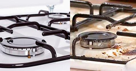 Простой трюк сделает вашу плиту идеально чистой всего за 5 минут, она будет сиять как новая!
