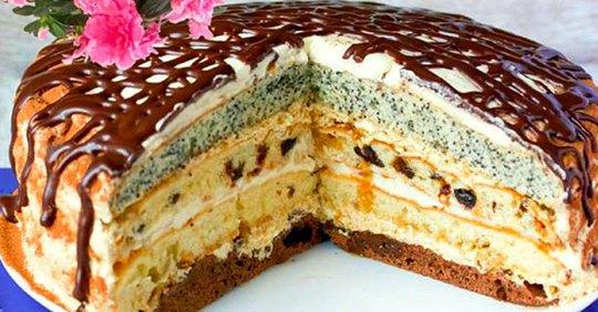 4 рецепта вкусных домашних тортиков