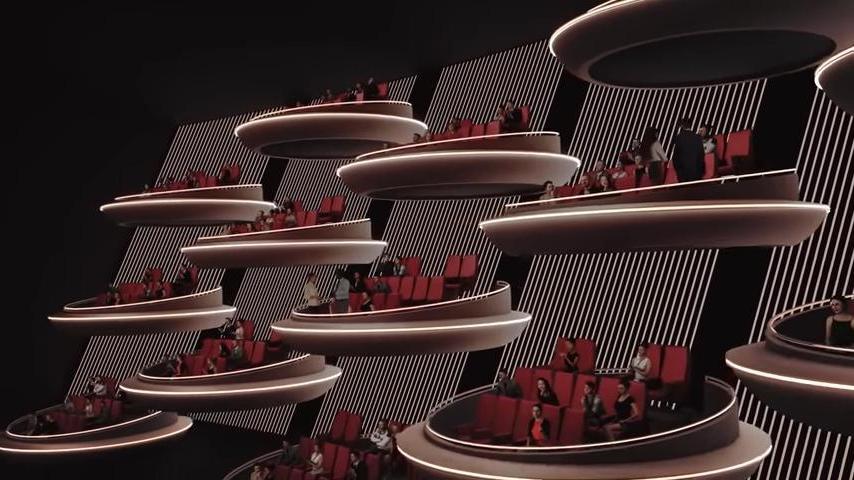 В такой кинотеатр я бы точно сходила! В Париже планируют открыть инновационный кинозал (видео)
