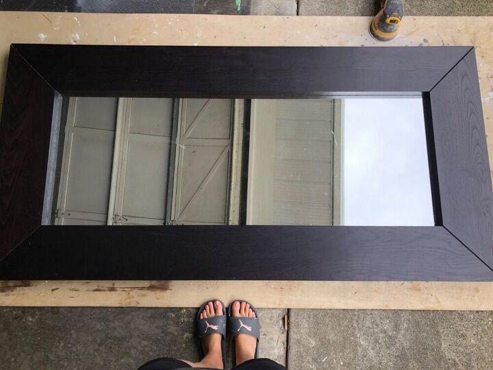 Купила дешевое зеркало в Икее и преобразила его: простой, но очень эффектный дизайн