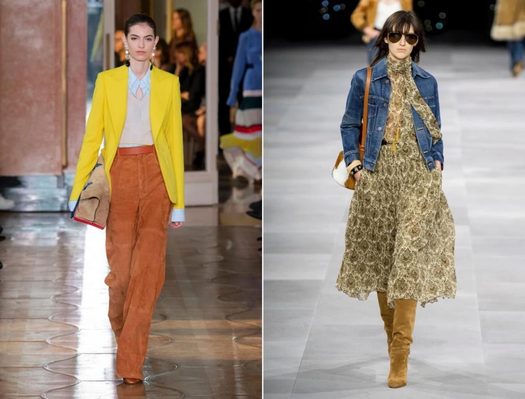 Мода 70-х сейчас в тренде: как правильно носить брюки-клеш и геометрические принты, чтобы быть стильной вне зависимости от возраста