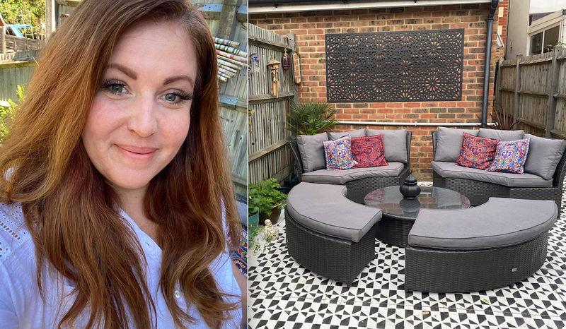 Купила трафареты, дешевую мебель и превратила свой двор в уютное гнездышко