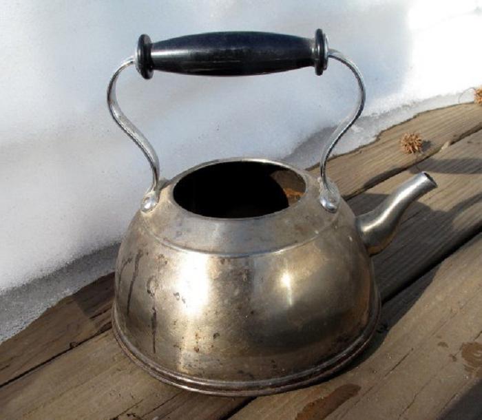 Решила занять ребенка на каникулах: вместе сделали необычный скворечник из старого чайника
