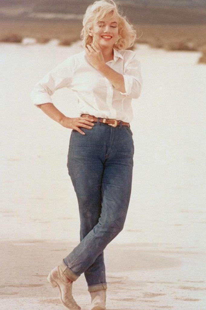 Как выглядели иконы стиля прошлого века в джинсах: Мэрилин Монро, Брижит Бардо, Одри Хепберн