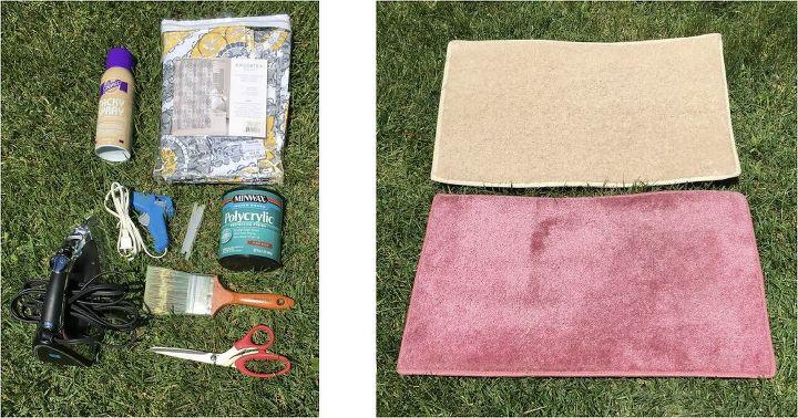 В подвале нашла старую душевую шторку: выбрасывать не стала, а сделала из нее коврики для кухни