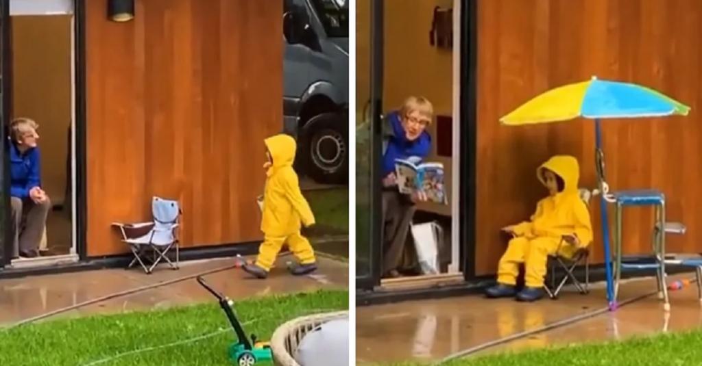 Мальчик ежедневно посещает свою бабушку, чтобы та почитала ему сказку