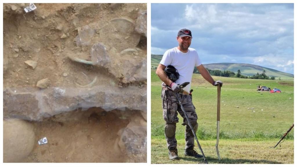 Клад Бронзового века обнаружили металлоискатели-любители в Шотландии: меч, конская сбруя и колпаки колесницы датируются 1000 г. до н.э.