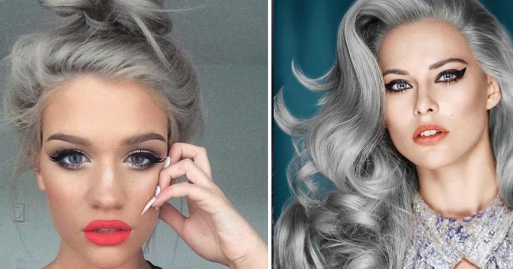 Седина может выглядеть красиво. Как добиться эффекта платины на седых волосах: лимонная вода, фиолетовый шампунь и не только