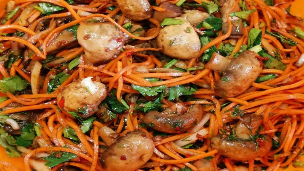 Морковка, сладкий перец, чеснок. Самый вкусный рецепт маринованных грибов, которым я пользуюсь уже много лет