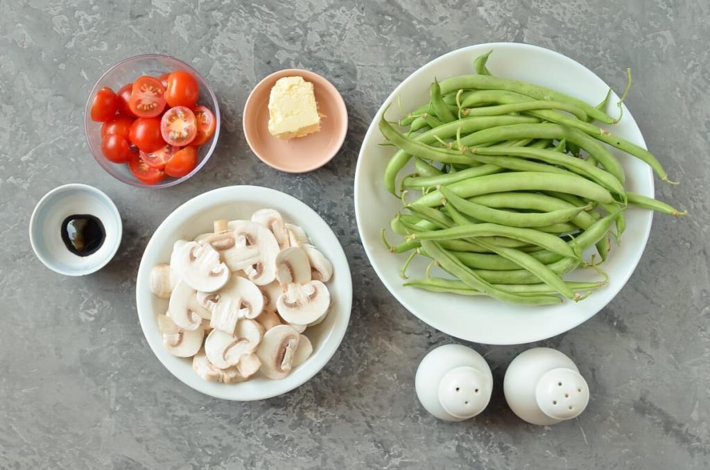 Летом часто готовлю стручковую фасоль с помидорами черри и шампиньонами. Рецепт блюда на каждый день