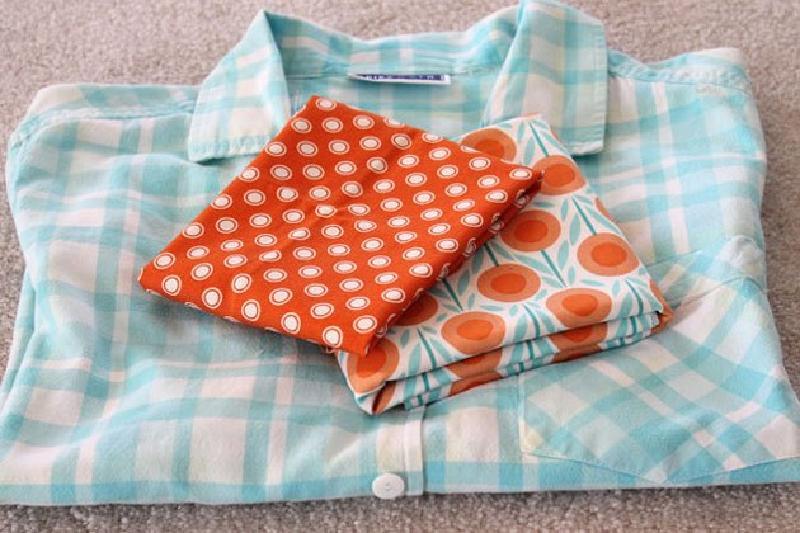 Шьем из старых рубашек симпатичный фартук: мастер-класс