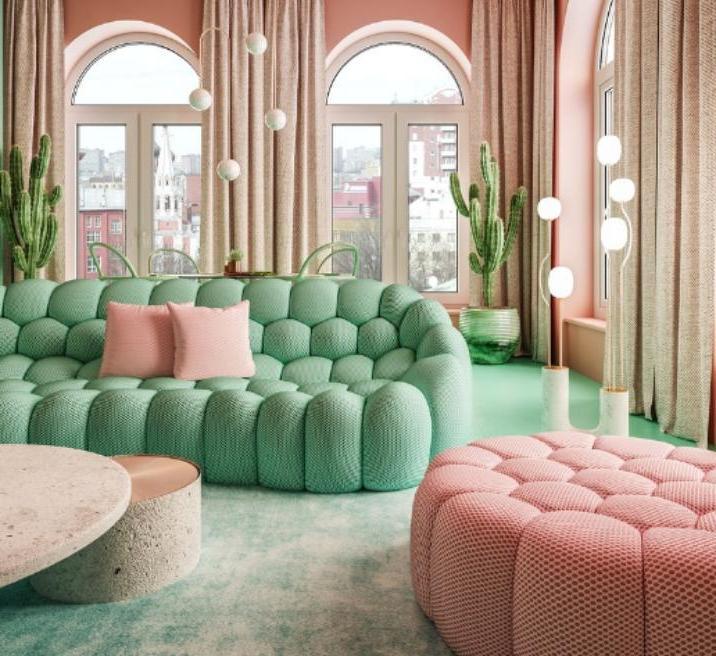 Модные в следующем десятилетии тенденции дизайна интерьера: пудровые оттенки