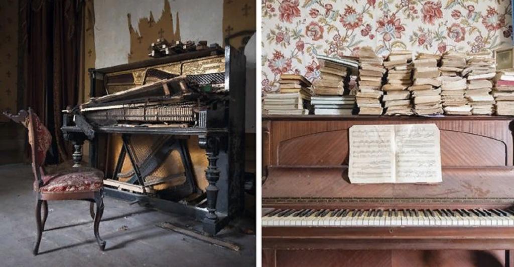 Фотограф путешествовал по Европе, снимая старые заброшенные пианино: что он увидел