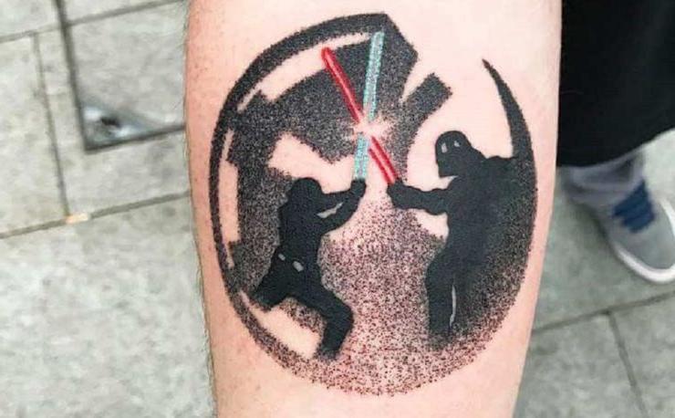 Для истинных фанатов Звездных войн: 10 лучших идей татуировок по мотивам оригинальной трилогии