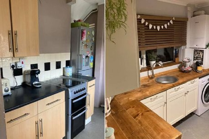 Супругам наскучила их старая кухня, поэтому они решили ее преобразить: на ремонт ушло лишь 235 £, а результат потрясающий
