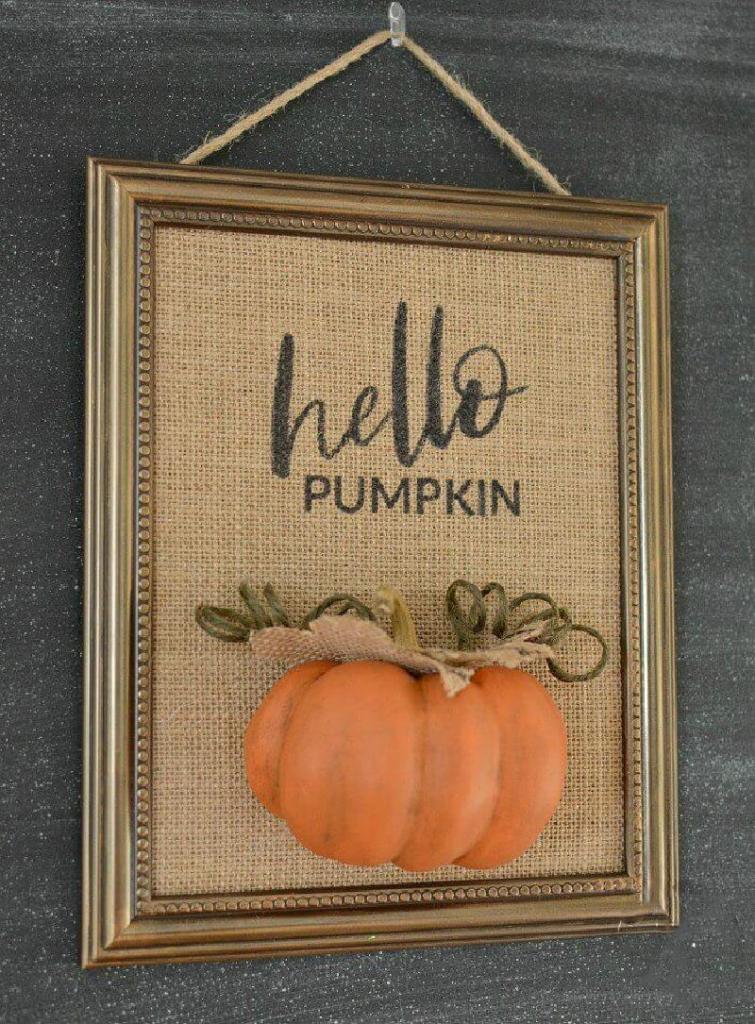 Осенний интерьер в доме, который можно создать своими руками: делаем симпатичное панно