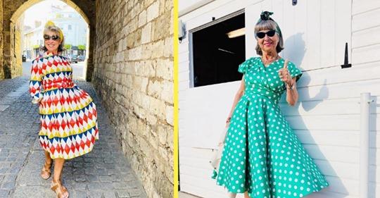 70-летняя бабушка из Англии научилась одеваться лучше молодых